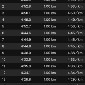 [本日のラン]無欲の30km走も高い再現性(=_=)