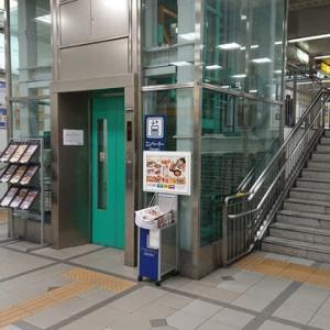 名鉄一宮駅の移動距離の短いエレベーター