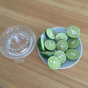ビタミンCたっぷり。すだちジュースを作りました