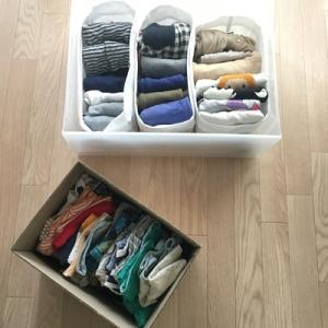 衣替えは簡単に。子供の季節外れ服&サイズアウト服のしまい方