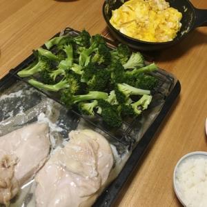 最も簡単な鶏ハムづくり。ブロッコリー蒸しも同時につくる(ヘルシオ)