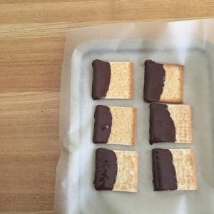 レンジでチン!チョコレートディップのクラッカー(ヘルシオ)
