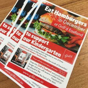 ハンバーガーを食べて、幼稚園をサポート!のファンドレイジング