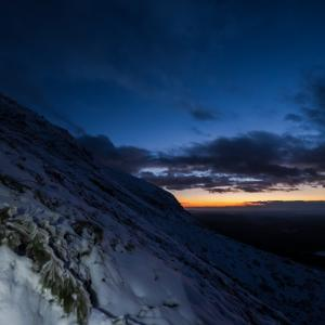 冬の星座を探しに厳冬期ナイトハイク雌阿寒岳