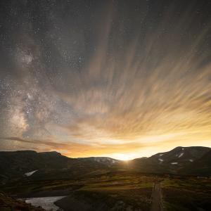 紅葉の大雪山で見る星空