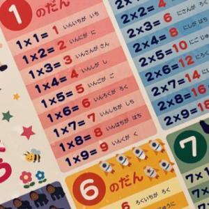 セリア(100均)のお風呂に貼る九九ポスター
