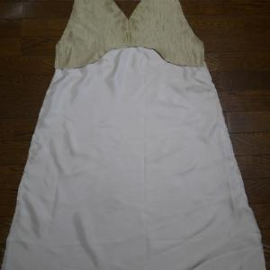 ジャンバースカート ④裏身頃を作る