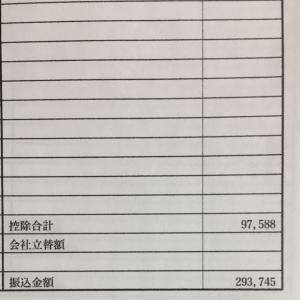 30代会社員7月の給料