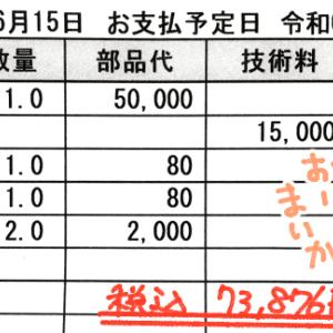 令和2年5月分家計簿