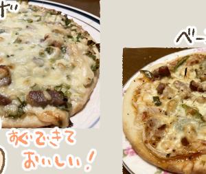 ピザとおからスコーン