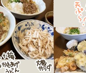うどんと天ぷらでご飯