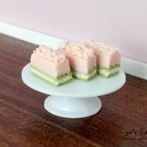 ミニチュアスイーツ - 桜のムースケーキ