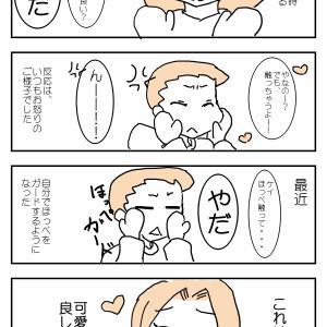 長男のほっぺガード@ケイ2歳【実録漫画】