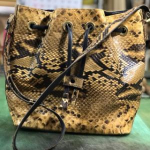 ヘビ革バッグ 内袋張り替え