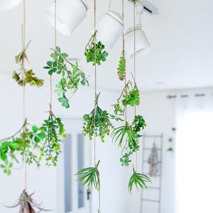 ★「吊り下げて飾る !」造花グリーンで夏を簡単に涼しく♪