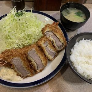 KATUTORA@ジャンボ海老ヒレ定食 とても庶民的な街のとんかつ屋さん
