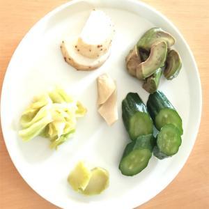 実食(アボカド、長芋、エリンギ、キャベツ、ブロッコリーの芯)