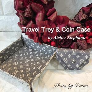 新メニュー★Travel Trey & Coin Case★お好きな生地・皮でお作りいただけます