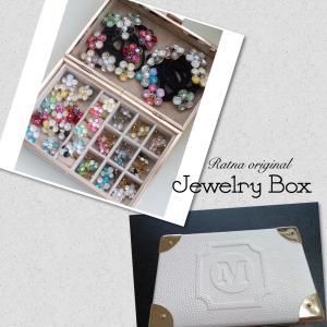素敵な宝石でいっぱい★Jewelry Boxジュエリーボックス★ホワイトレザーが上品