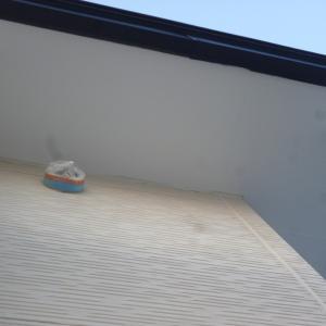 軒天上塗&外壁下塗
