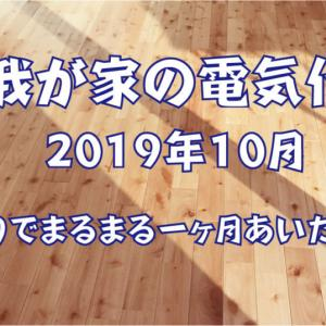 【我が家の電気代】2019年10月 ~祭りでまるまる1ヶ月あいたよSP~