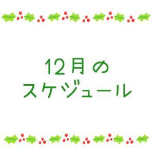 ★12月のスケジュール★