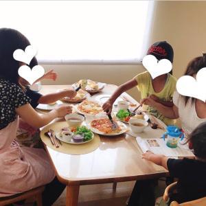 おうちパン講座☆おうちパンマスターキッズ②ドデカパンピザ風&フライパンであんぱん
