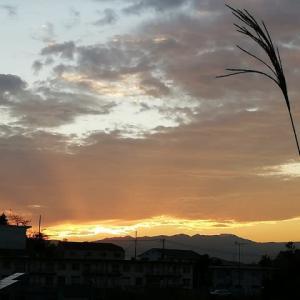 12月5日の夕陽
