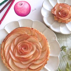 パイシートで簡単♪お花のアップルパイ