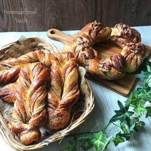 自家製こしあんシート ねじりスティックパン ねじりリングパン