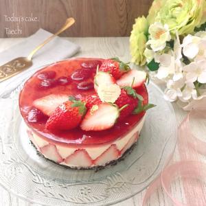 簡単なのに映える苺のレアチーズケーキ
