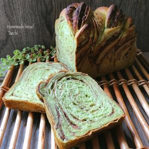 編み込み成形での悩み解消!餡シートでねじり抹茶食パン