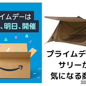 本日明日とAmazonプライムデーセール!サリーが買ったお得キャンプ用品とは?