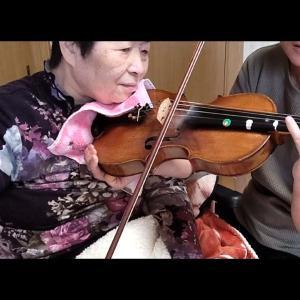 2人バイオリン練習