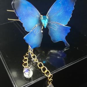 ブルーの蝶々。