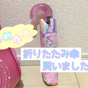入学後に慌てて購入したもの…軽量かわいい子供用折り畳み傘♡