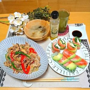 野菜たっぷり玄米ビーフン♪ディナー♪