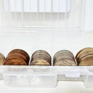 セリアのコインケースで小銭貯金。