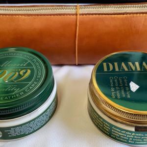 経年劣化ヌメ革で比較、コロニルディアマントと1909シュプリームどちらが良い?
