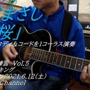 さだまさし「秋桜」アコギソロ練習Vol 005 ピックでメロディ&コードを1コーラス演奏