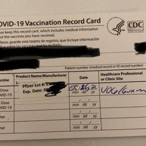 コロナ予防接種1回目💉
