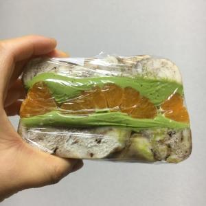 【パン屋】ベーグルサンド:蜜柑と抹茶クリチ@TANUKI APPETIZING【勝どき】