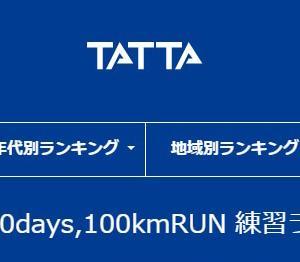 1person,10days,100kmRUN 練習ランキング