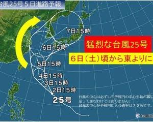 台風25号通過、そしたら停電