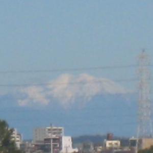 『御嶽山に雪が見えた』(191115)