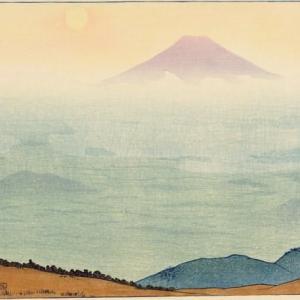 『富士山の絵(版画)が今朝の楽しみだった』(200310)