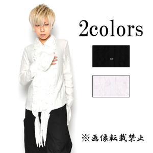 ゴスロリ フリルブラウス ガーゼ素材 黒コーデ アルビノファッション