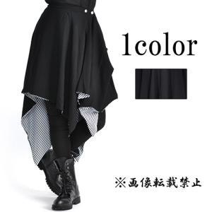ゴシックモード系フラップスカート-重ね着ファッション-