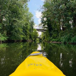 毎日川遊び生活!カヌーして、ニジマス釣り