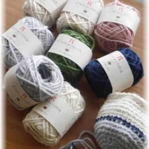 麻ひもで編んでみる。